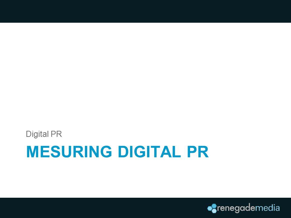 MESURING DIGITAL PR Digital PR