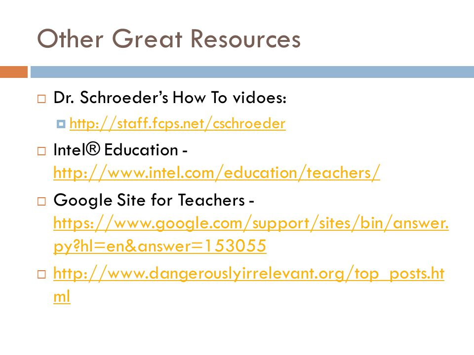 Other Great Resources  Dr.
