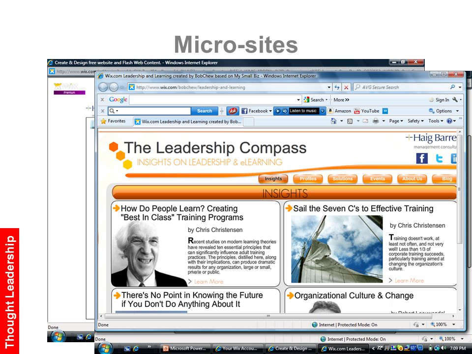 Micro-sites Thought Leadership
