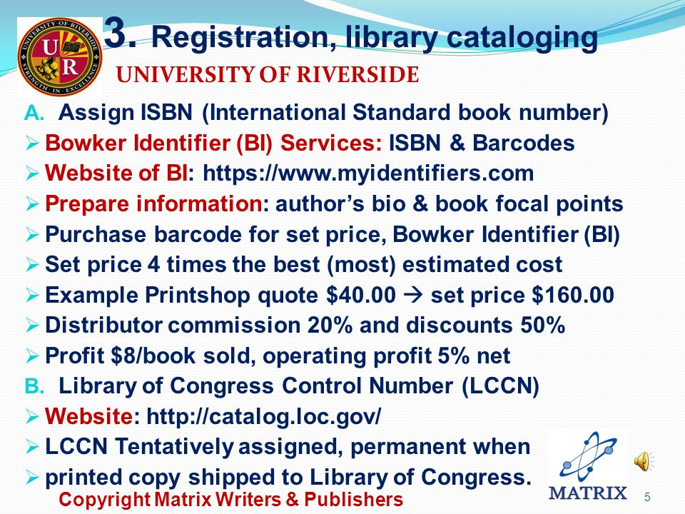 2. Process and Steps to Write Registration for library cataloging Manuscript preparation Book cover design Content text preparation Automatic insertio