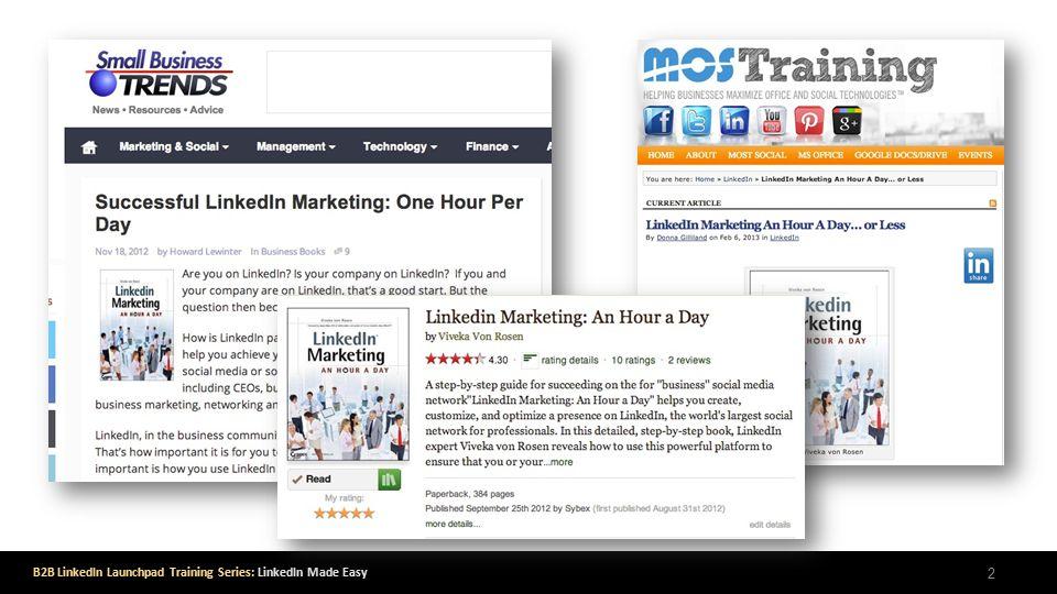 B2B LinkedIn Launchpad Training Series: LinkedIn Made Easy 2