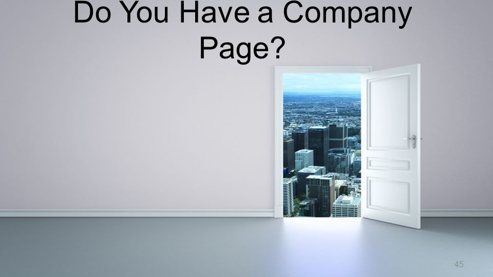 Do You Have a Company Page? 45