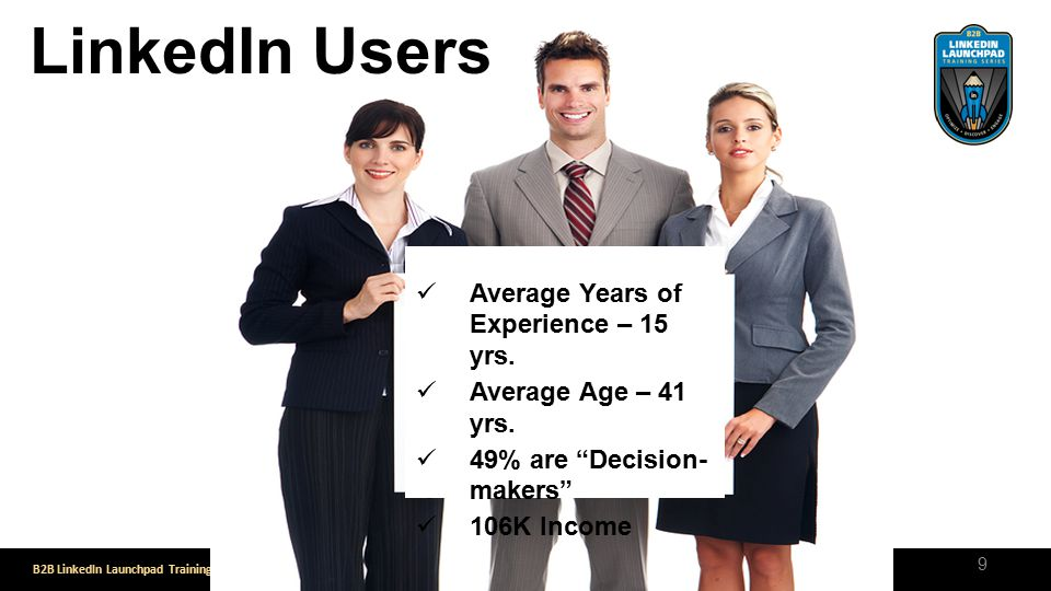 LinkedIn Users Average Years of Experience – 15 yrs.
