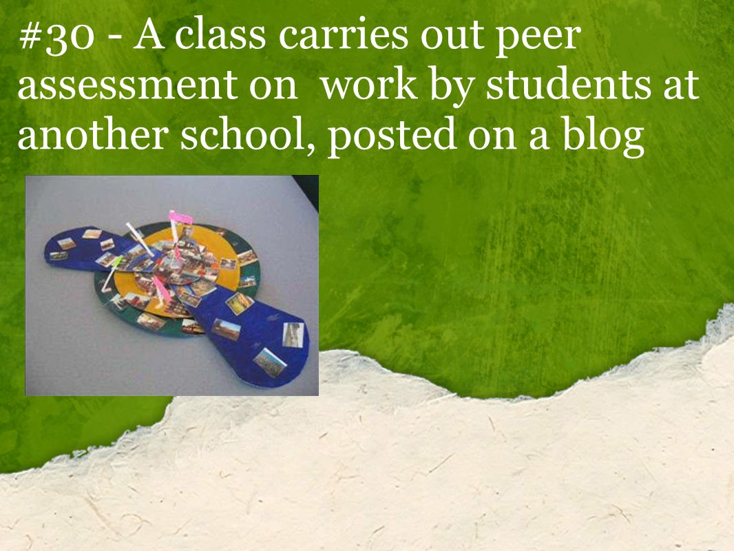 #30 - A class carries out peer assessment on work by students at another school, posted on a blog