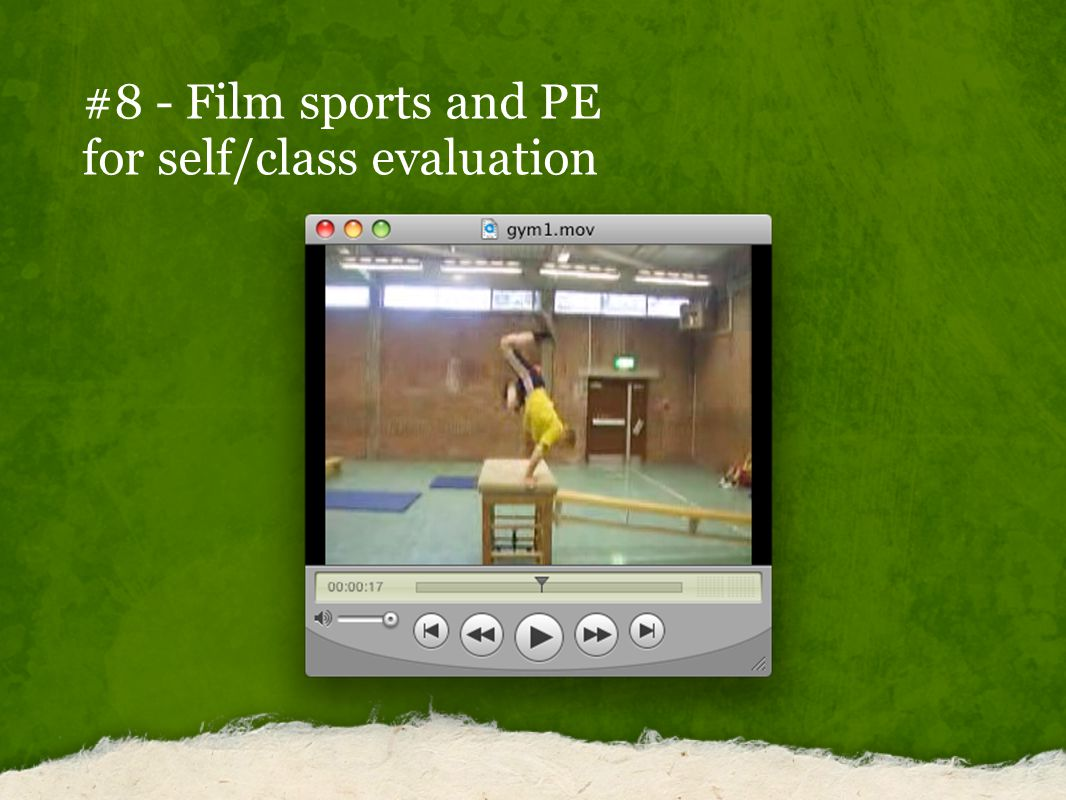 #8 - Film sports and PE for self/class evaluation