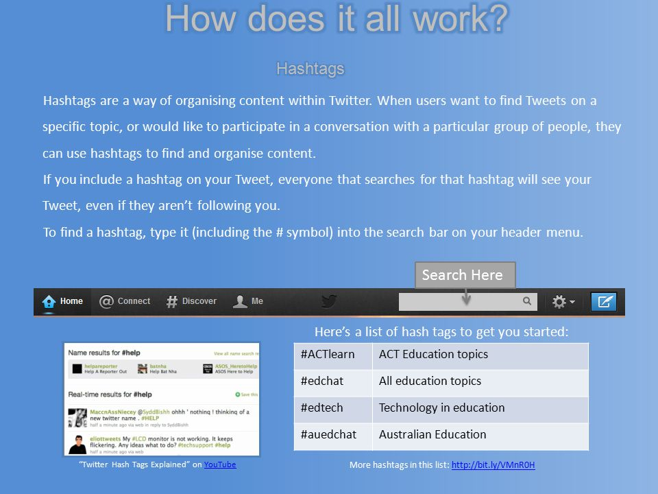 Hashtags are a way of organising content within Twitter.