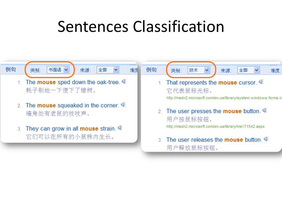 Sentences Classification