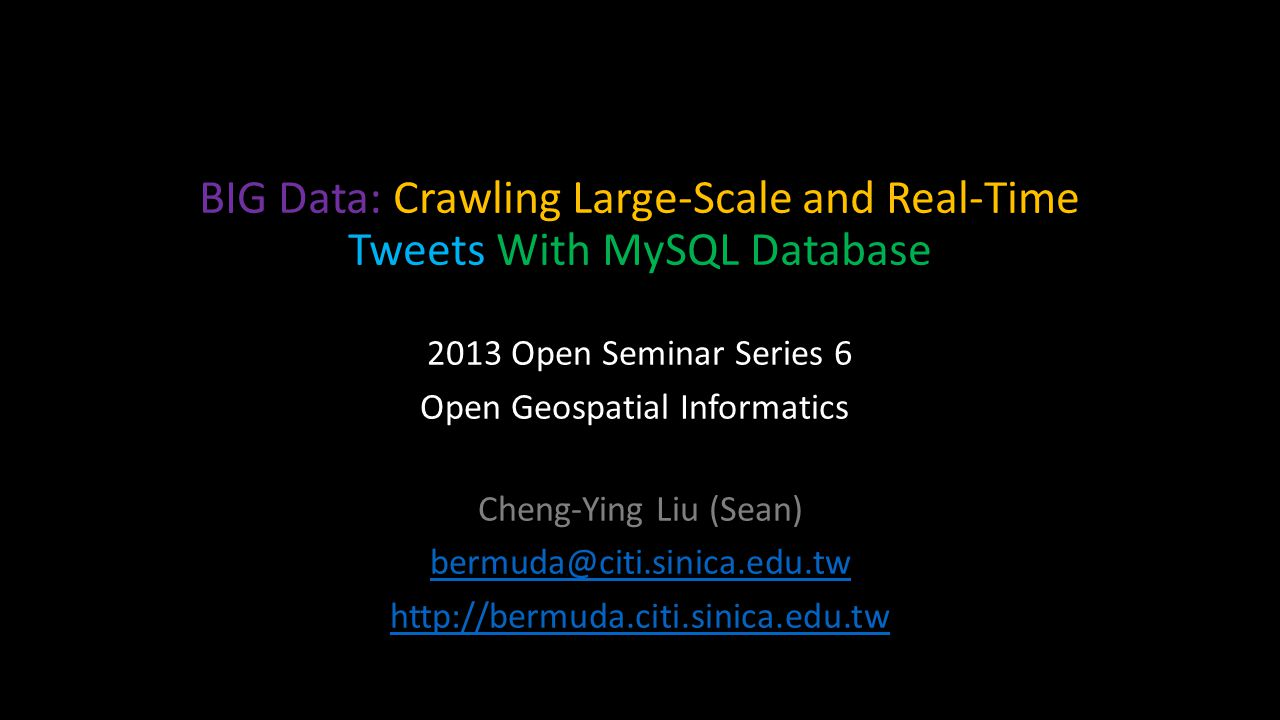 BIG Data & Twitter