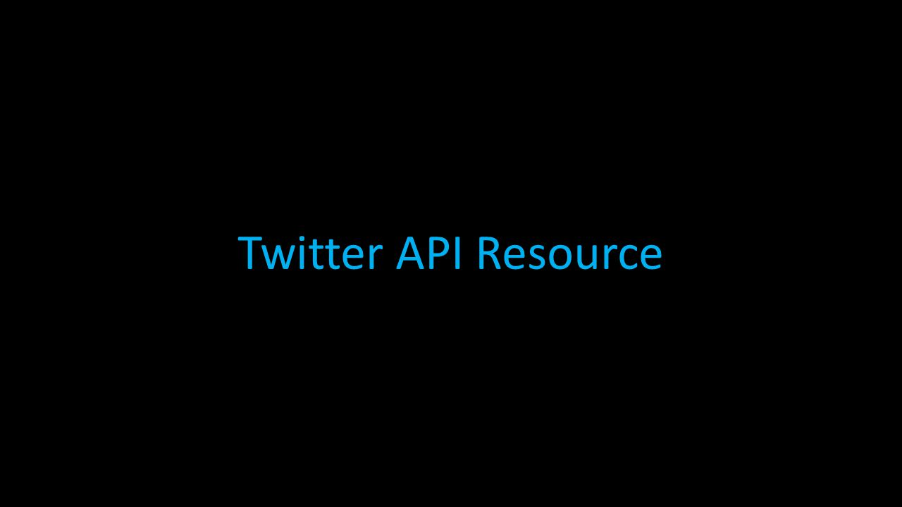 Twitter API Resource