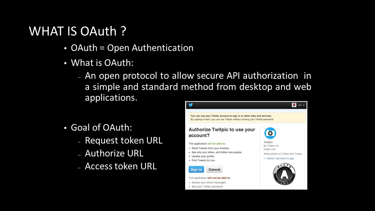 WHAT IS OAuth .