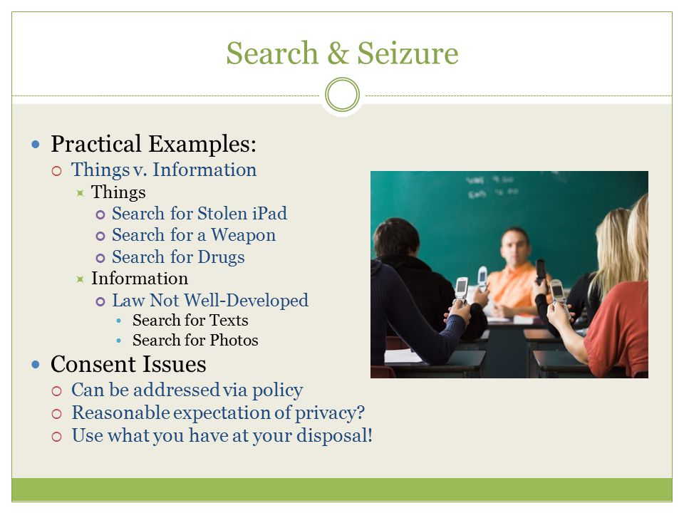 Search & Seizure Practical Examples:  Things v.