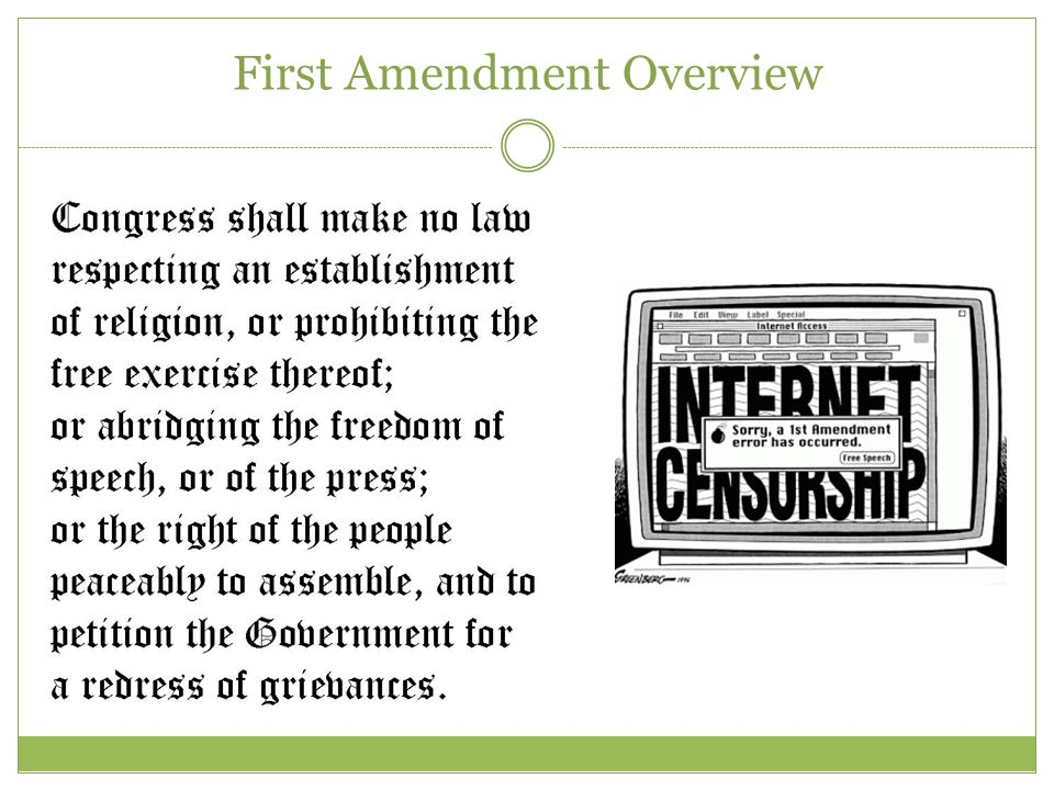 First Amendment Overview