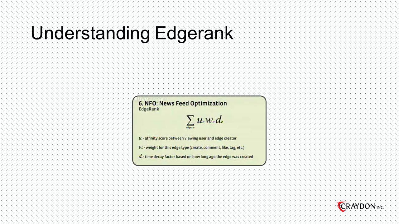 Understanding Edgerank
