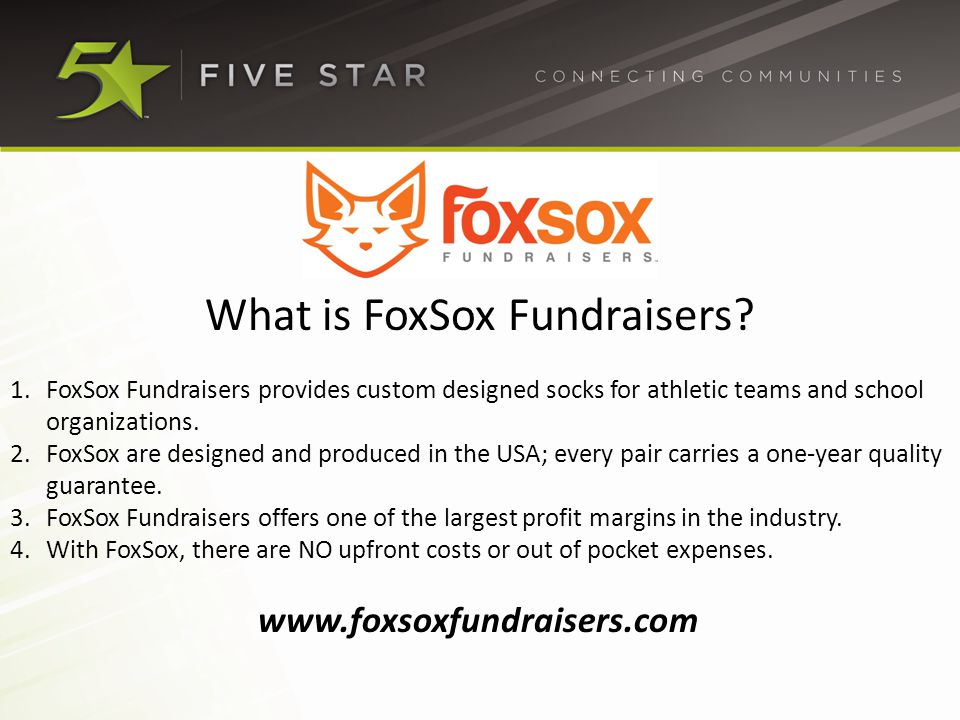 What is FoxSox Fundraisers.