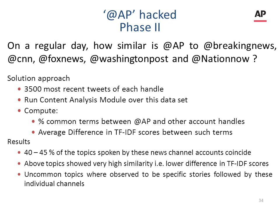 On a regular day, how similar is @AP to @breakingnews, @cnn, @foxnews, @washingtonpost and @Nationnow .