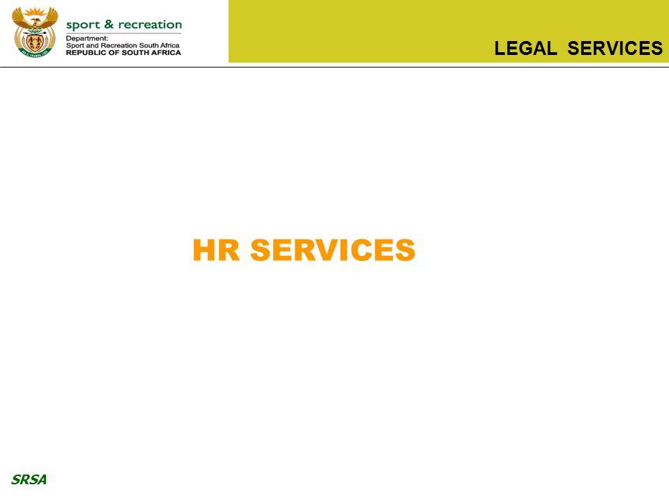 SRSA LEGAL SERVICES HR SERVICES