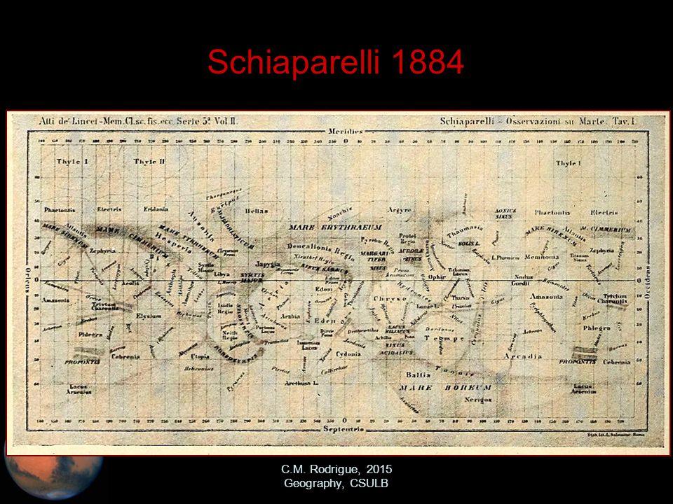 C.M. Rodrigue, 2015 Geography, CSULB Schiaparelli 1884