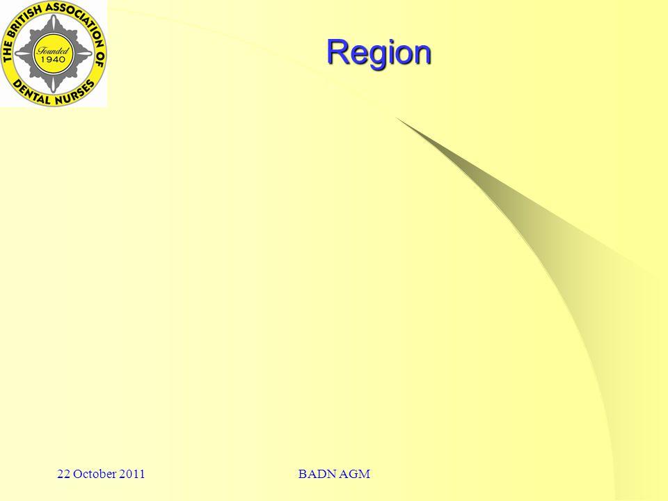 22 October 2011BADN AGM Region