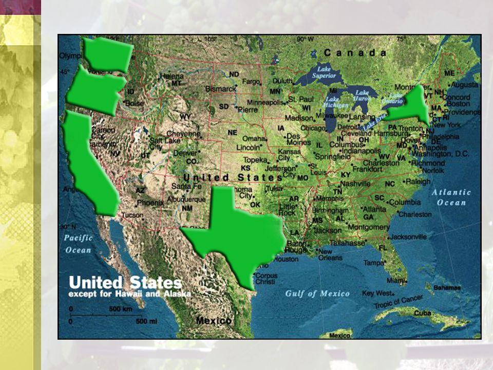 U.S. wine grape growing regions