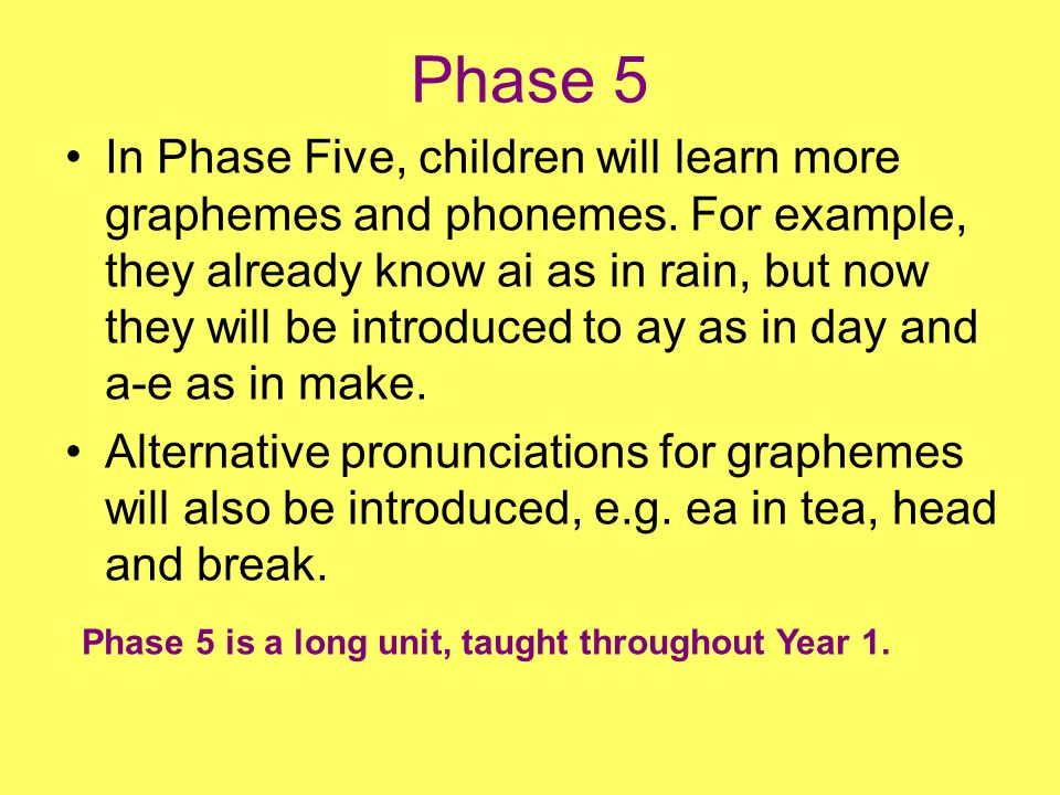 Phase 4 Tricky words During Phase 4, the following tricky words (which can t yet be decoded) are introduced: said have like so do some come were there little one when out what