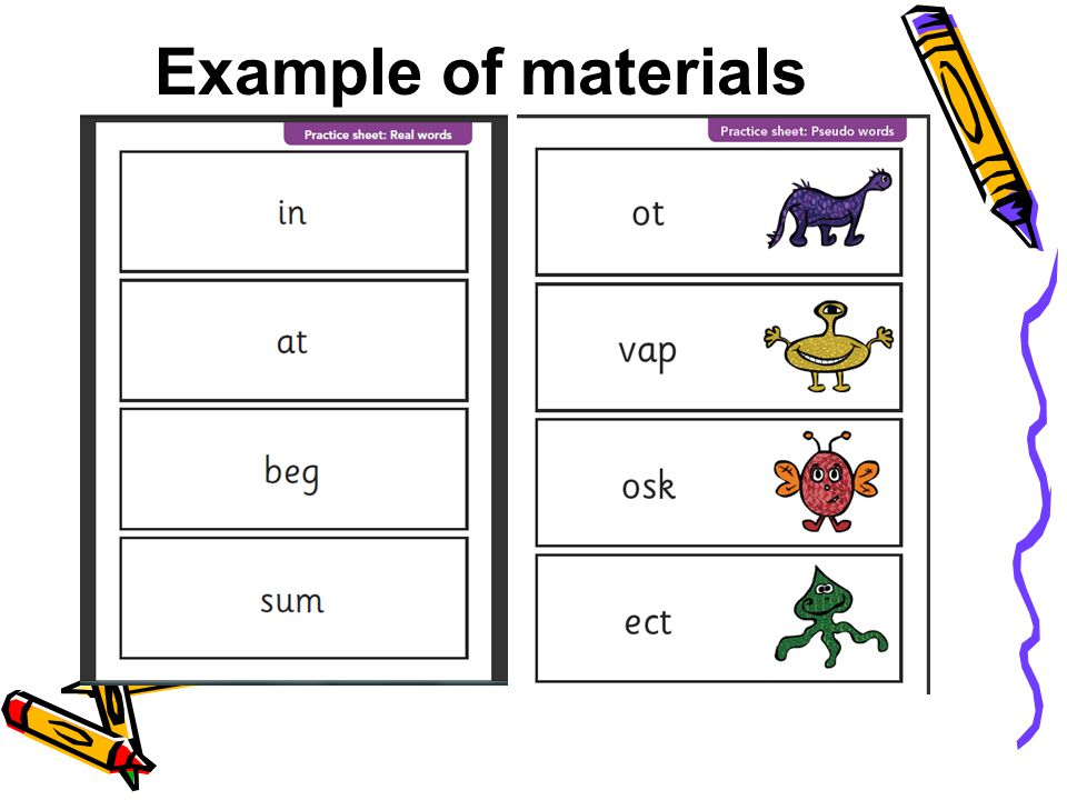 Example of materials