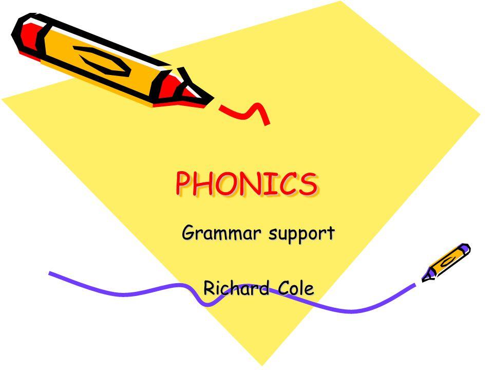 PHONICSPHONICS Grammar support Richard Cole