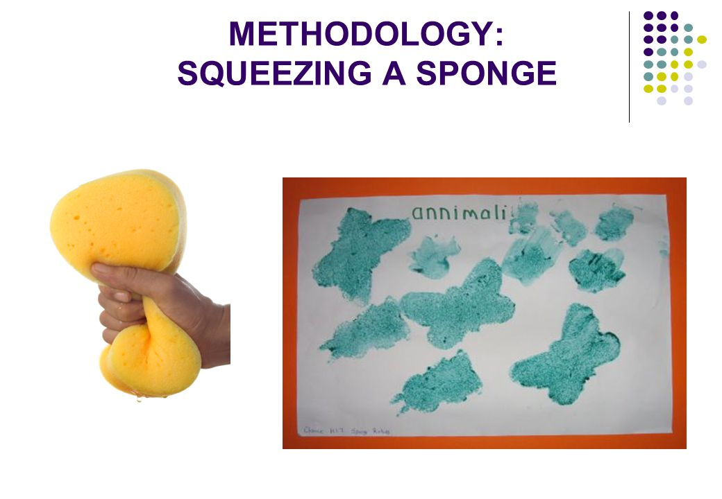METHODOLOGY: SQUEEZING A SPONGE