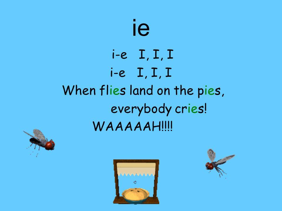 -ie i-e E, E, E A thief stole all the cookies? Good grief!