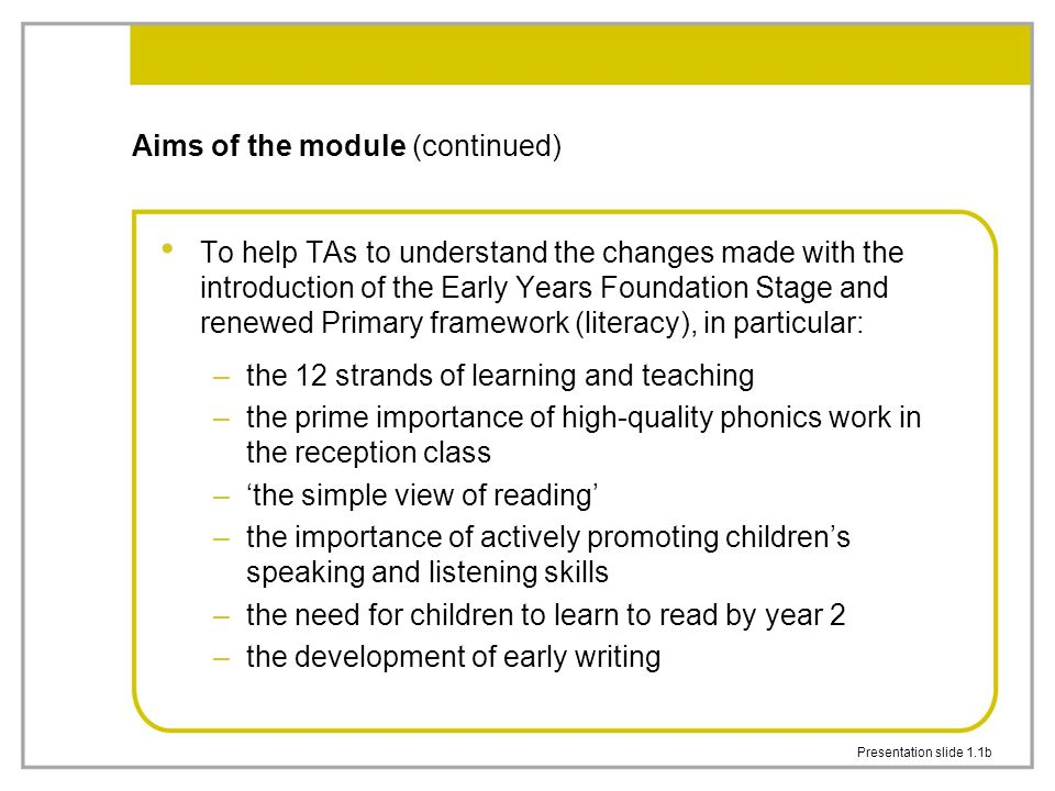 Presentation slide 7.1b 'The simple view of reading' (2)