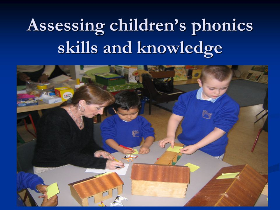 Assessing children's phonics skills and knowledge