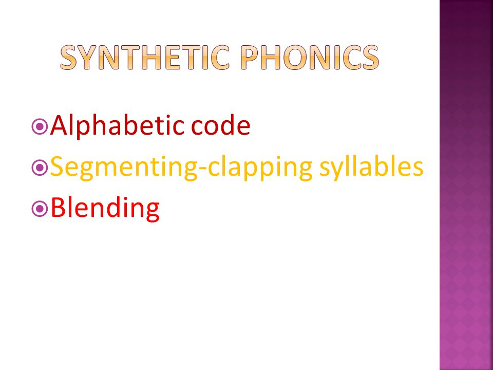 Teaching phonics requires a technical skill in enunciation  Phonemes should be articulated clearly and  precisely What do you get if you add /uh/.