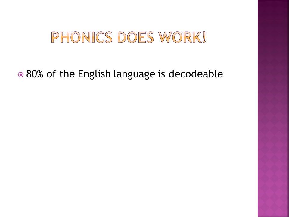  80% of the English language is decodeable