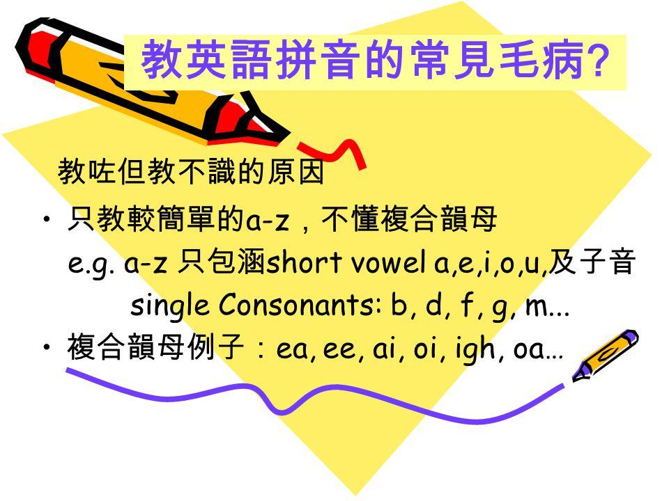 小一 拼音簡報 http://www.kwmwps.edu.hk/My%20Webs/phonics/p1phonics.htm 小二拼音簡報 http://www.kwmwps.edu.hk/My%20Webs/phonics/p2phonics.htm 家長網上資源庫 http://www.kwmwps.edu.hk/My%20Webs/phonics/Phonics_login.htm 拼音教材