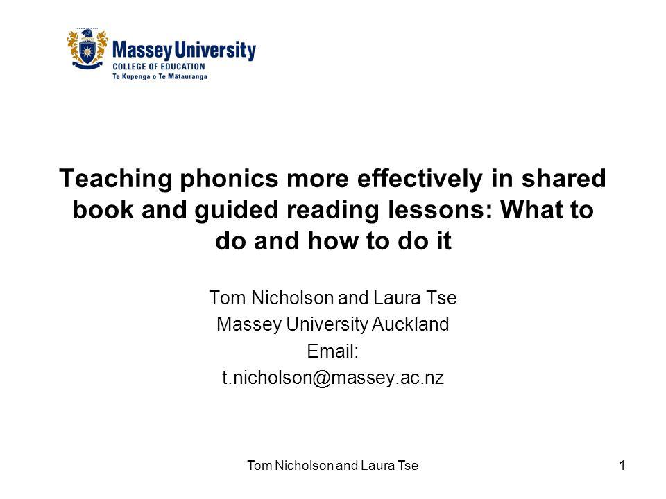 Tom Nicholson and Laura Tse2 Presentation Overview 1.