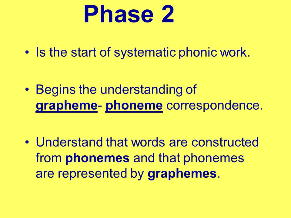 Phonics Phase 2 and 3 Reception