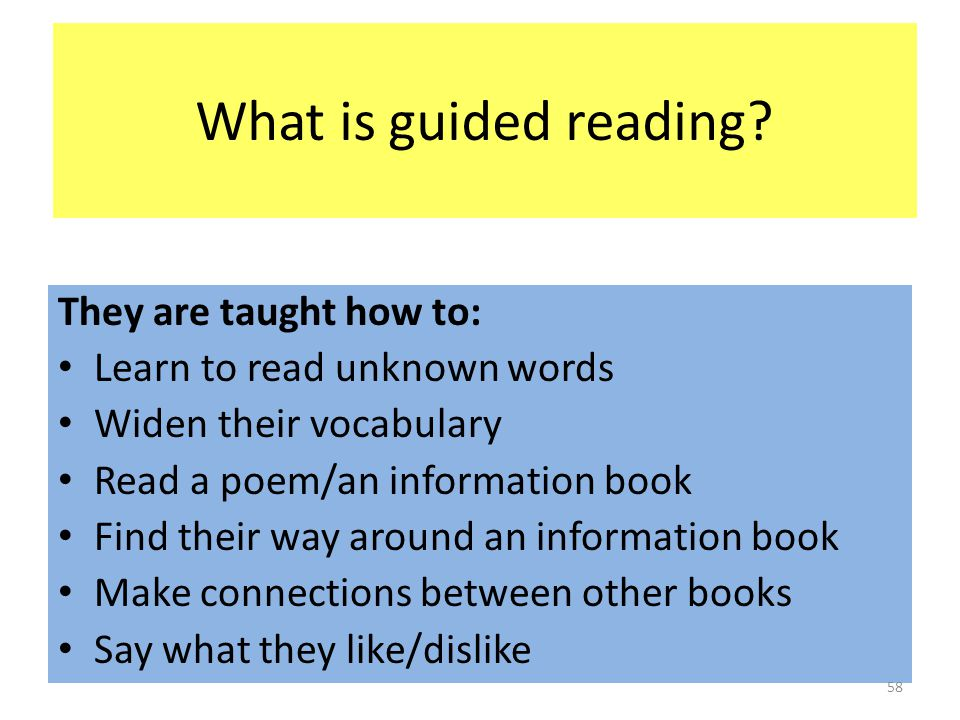 What is guided reading.