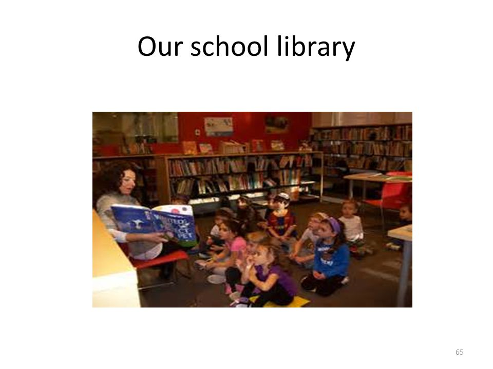 Our school library 65