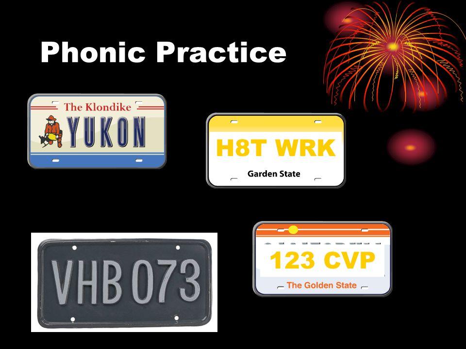 H8T WRK Phonic Practice 123 CVP