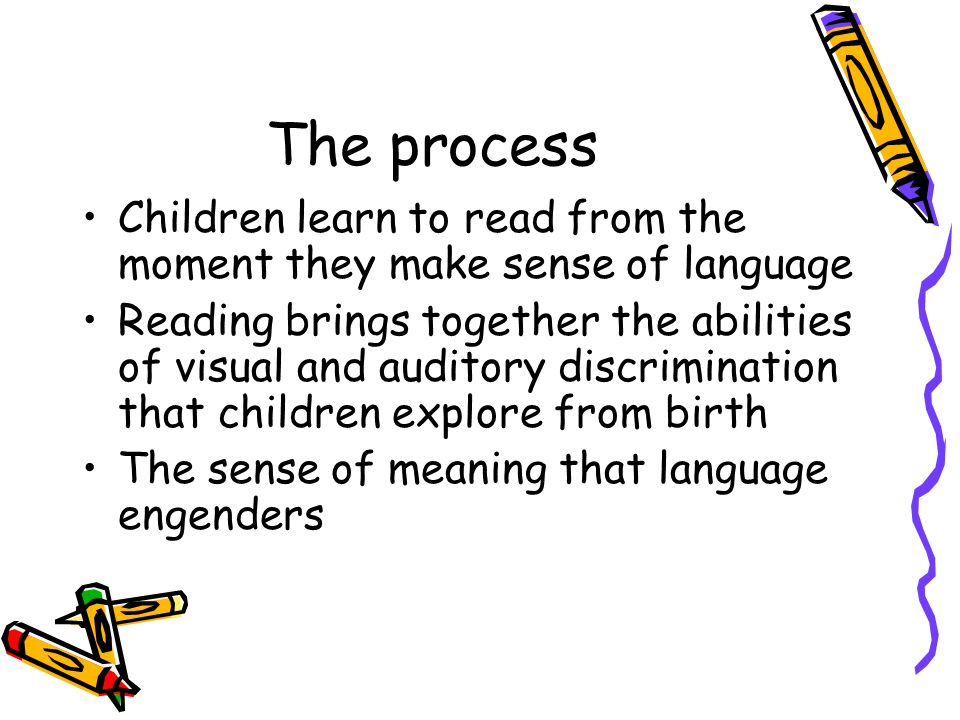 Teaching methods In the 1960s, 1970s and early 1980s two methods were used to teach reading –Phonics –Whole words Both teach children the relationship between sounds and letters