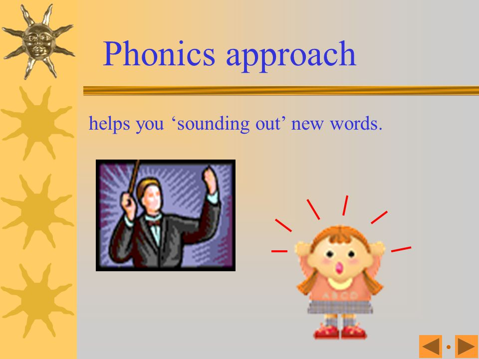 Phonics is the process of learning through the relationship between letters and combination of letters and the sounds that go with them.