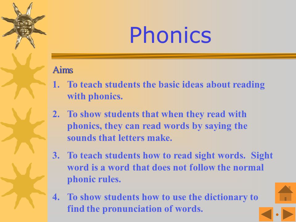 Phonics Objectives Lesson 4 : Lesson 4 : Syllables and word stress Lesson 1: Lesson 1: Introduction to phonics Lesson 3 : Lesson 3 : Puzzling sounds L