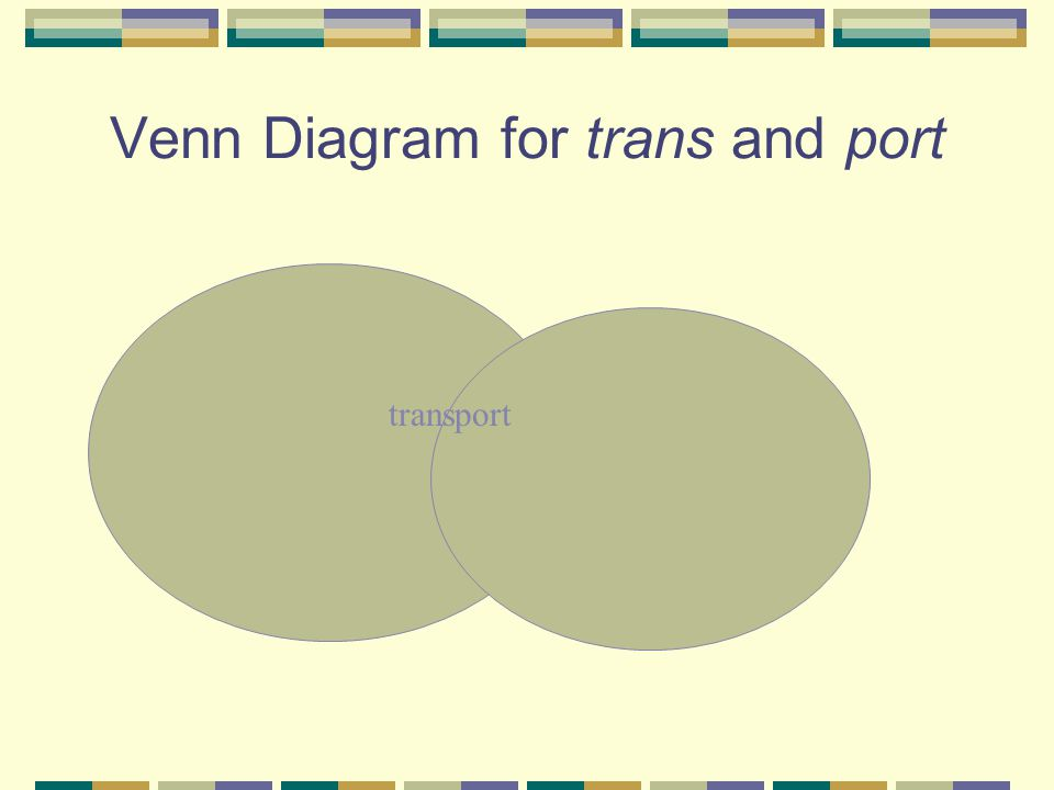 Venn Diagram for trans and port transport