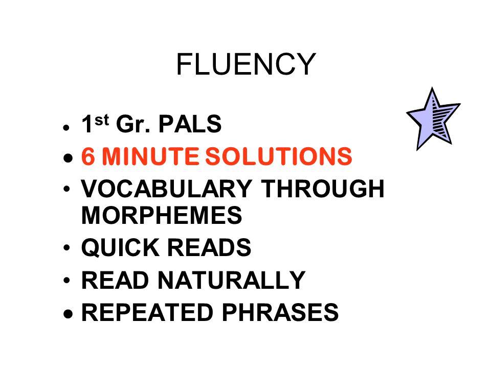 FLUENCY  1 st Gr.