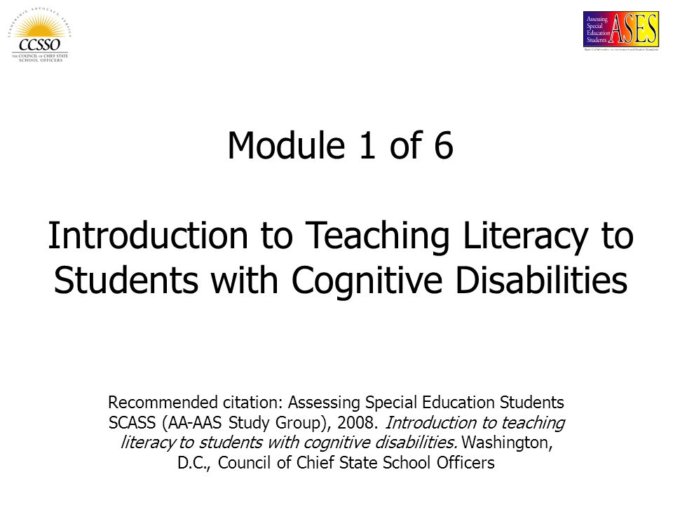 Recommended citation: Assessing Special Education Students SCASS (AA-AAS Study Group), 2008.