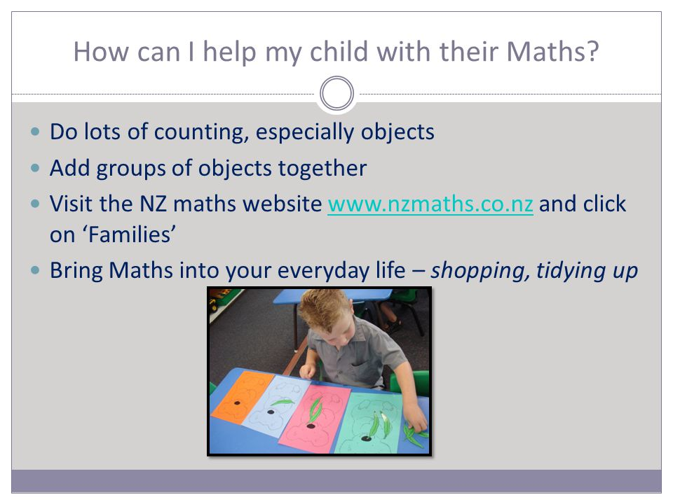 How can I help my child with their Maths.