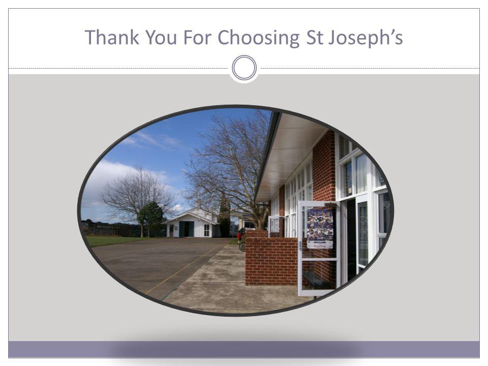 Thank You For Choosing St Joseph's