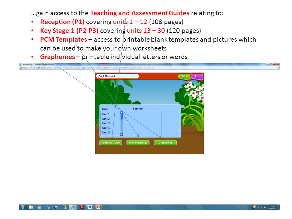 …gain access to the Teaching and Assessment Guides relating to: Reception (P1) covering units 1 – 12 (108 pages) Key Stage 1 (P2-P3) covering units 13