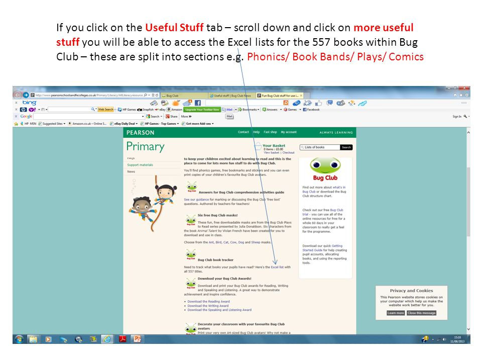 If you click on the Useful Stuff tab – scroll down and click on more useful stuff you will be able to access the Excel lists for the 557 books within