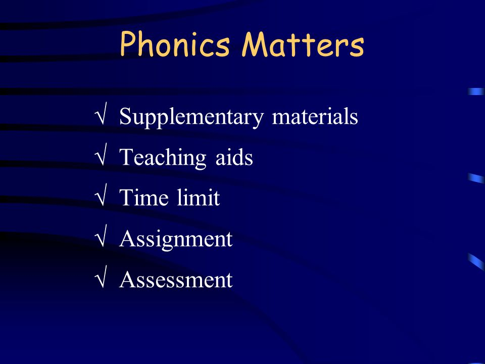 How does phonics help EFL learners.