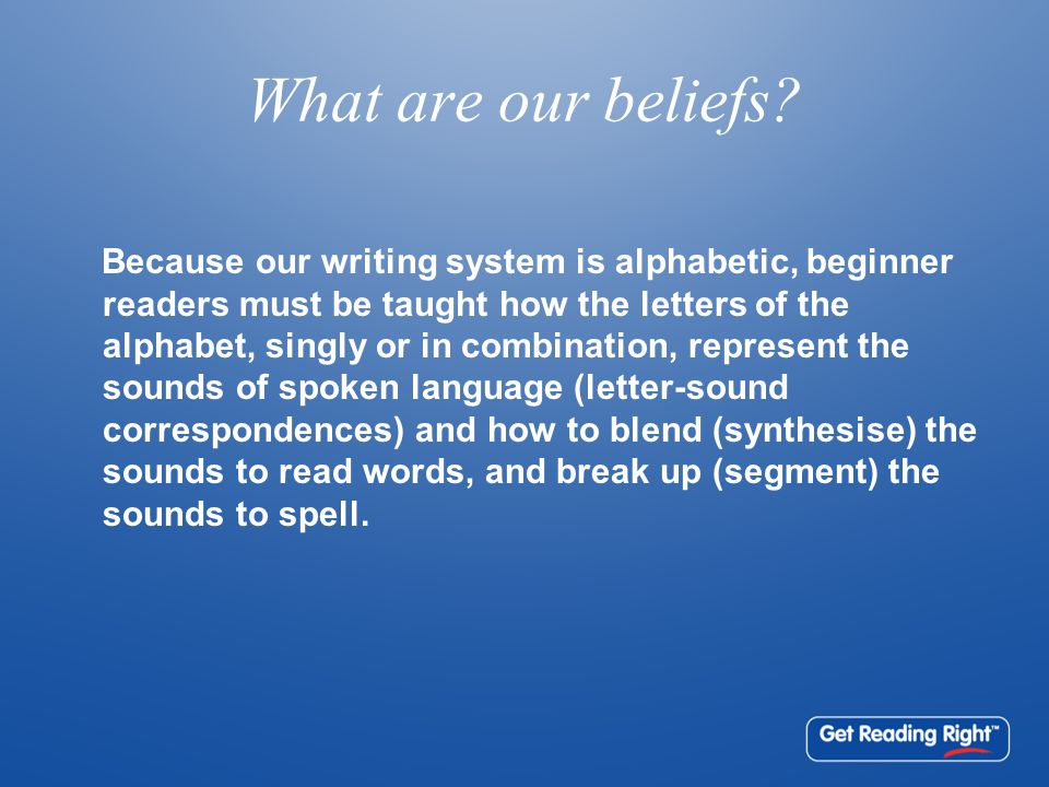 What are our beliefs.